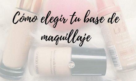 Como elegir tu base de maquillaje y no equivocarte!