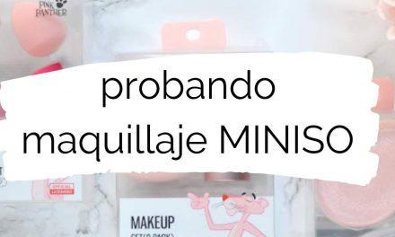 Probando maquillaje de Miniso